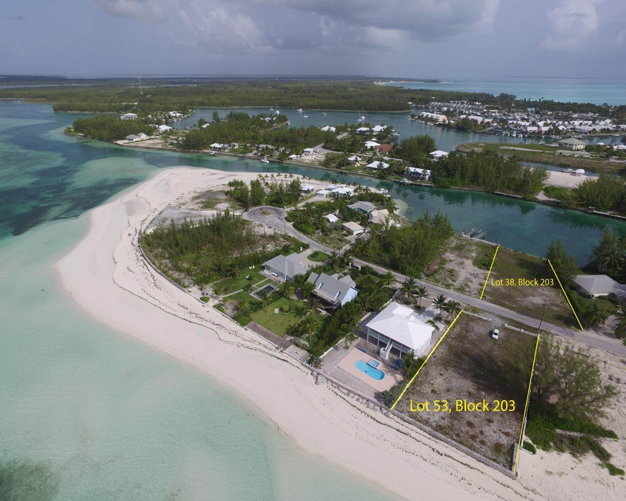 2. Lots / Acreage for Sale at Windward Beach, Treasure Cay, Abaco Bahamas