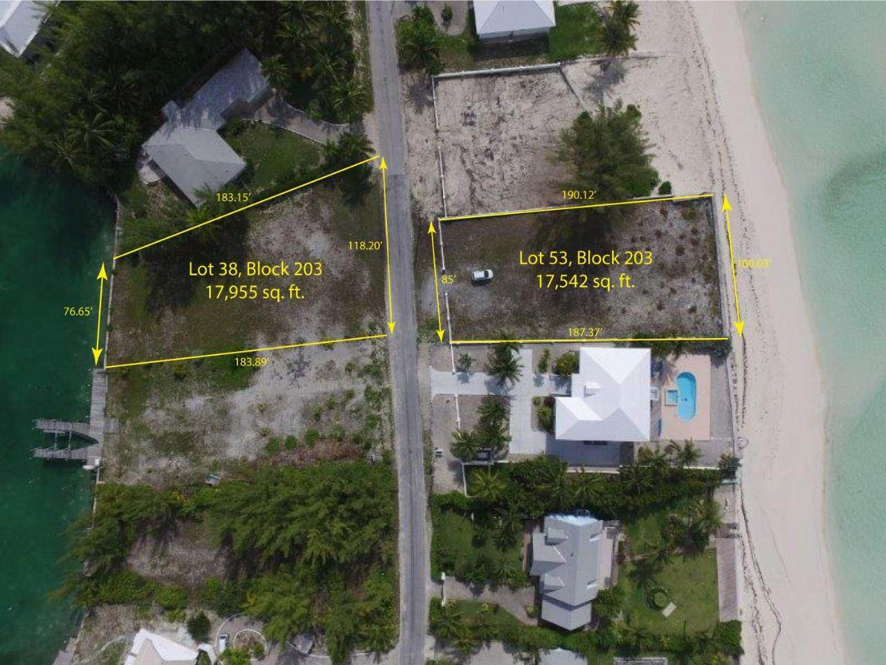 4. Lots / Acreage for Sale at Windward Beach, Treasure Cay, Abaco Bahamas