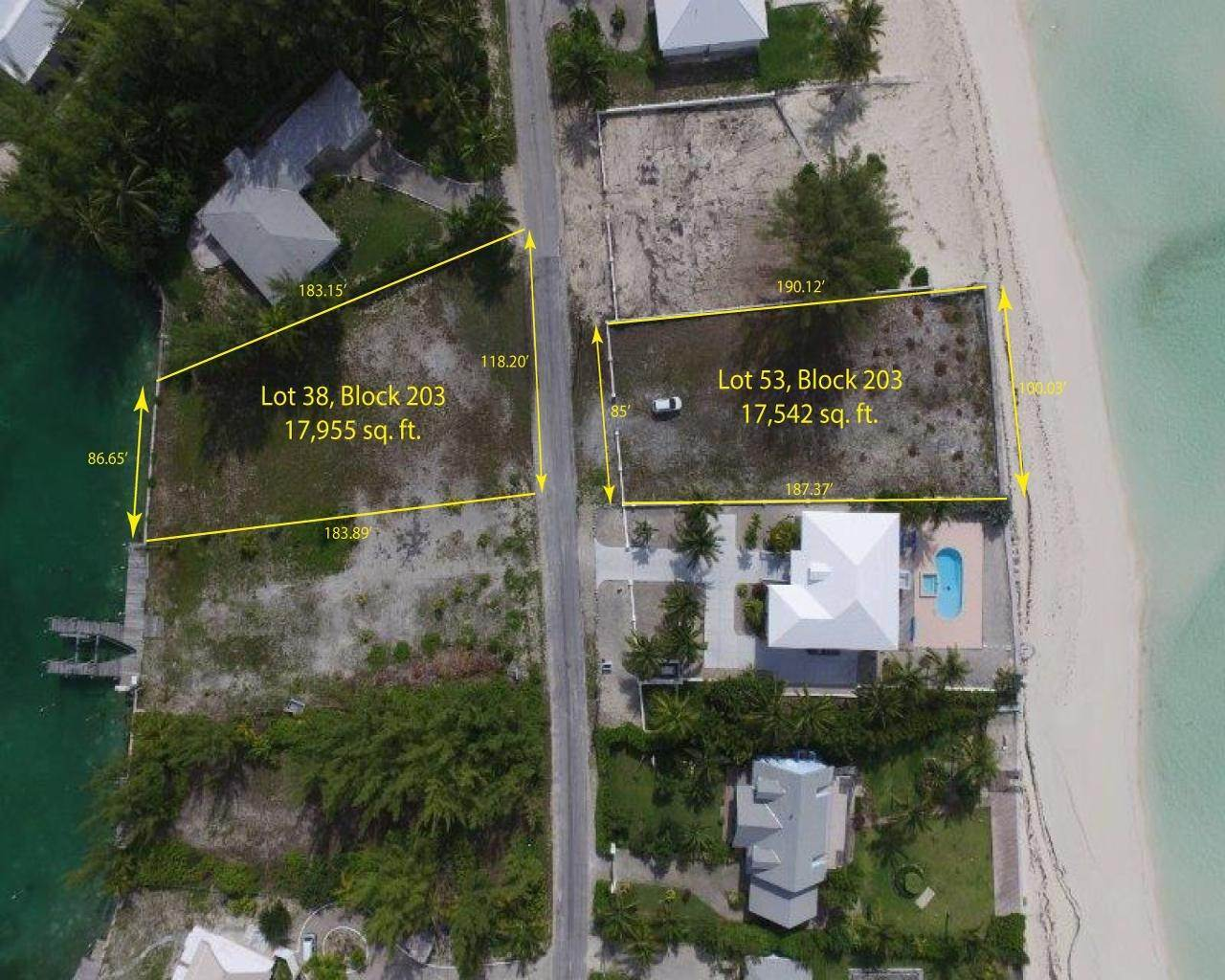 6. Lots / Acreage for Sale at Windward Beach, Treasure Cay, Abaco Bahamas